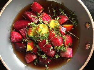 Beetroots cooking